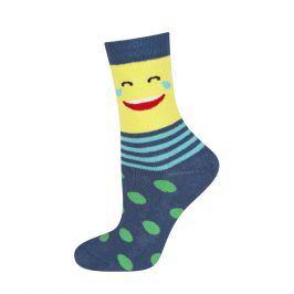 Dětské termo ponožky SOXO SMAJLÍK SLZY modré Velikost: 25-28