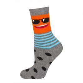 Dětské termo ponožky SOXO SMAJLÍK BRÝLE šedý melír Velikost: 25-28