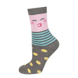 Dětské termo ponožky SOXO SMAJLÍK žlutý puntík Velikost: 25-28