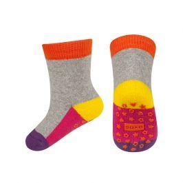 Dětské termo ponožky SOXO WINTER tmavě oranžové Velikost: 19-21