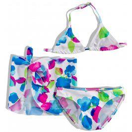 Dívčí plavky s pareem Dirkje FLOWERS bílé Velikost: 92