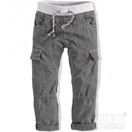 Kojenecké plátěné kalhoty MINOTI šedé Velikost: 80-86