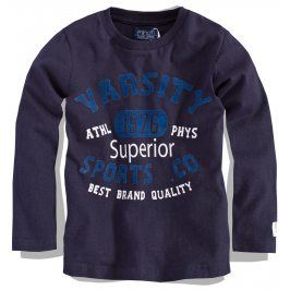 Chlapecké triko s dlouhým rukávem Minoti modré Velikost: 86-92