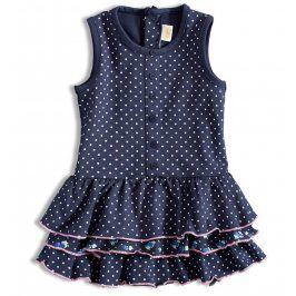 Dívčí šaty Dirkje puntíky modré Velikost: 56