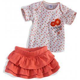 Kojenecká sukýnka a tričko DIRKJE oranžová Velikost: 56
