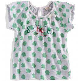 Dívčí tričko krátký rukáv DIRKJE zelený puntík Velikost: 92
