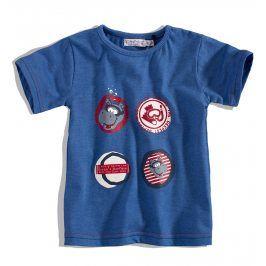 Dětské tričko DIRKJE HIPPO modré Velikost: 56