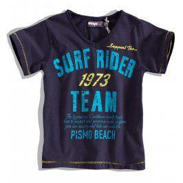 Chlapecké tričko krátký rukáv DIRKJE SURF RIDER tmavě modré Velikost: 92