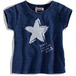 Dívčí tričko krátký rukáv DIRKJE STAR DANCE modré Velikost: 92