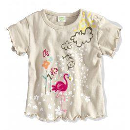 Kojenecké tričko PEBBLESTONE PLAMEŇÁK béžové Velikost: 68