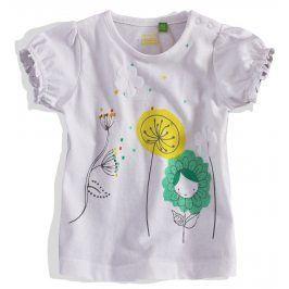 Dívčí tričko krátký rukáv PEBBLESTONE bílé Velikost: 68