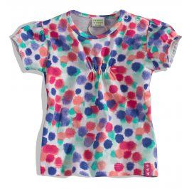 Dívčí tričko krátký rukáv Pebblestone TEČKY Velikost: 68