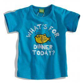 Kojenecké tričko PEBBLESTONE RYBA modré Velikost: 68