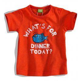 Kojenecké tričko PEBBLESTONE RYBA oranžové Velikost: 68