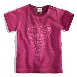 PEBBLESTONE Kojenecké dívčí tričko SRDÍČKO růžové Velikost: 86