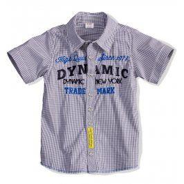Dětská košile krátký rukáv DIRKJE DYNAMIC žlutá nášivka Velikost: 98