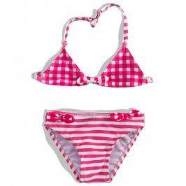 Dívčí dvoudílné plavky PEBBLESTONE růžové Velikost: 92-98