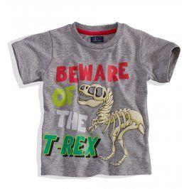 Chlapecké tričko s krátkým rukávem Minoti BITE šedé Velikost: 86-92