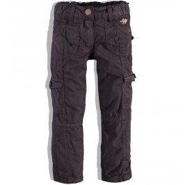 KNOT SO BAD Dívčí plátěné kalhoty KnotSoBad hnědé Velikost: 92