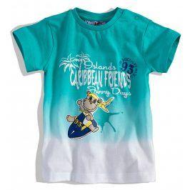 KNOT SO BAD Kojenecké tričko KnotSoBad CARRIBEAN tyrkysové Velikost: 62