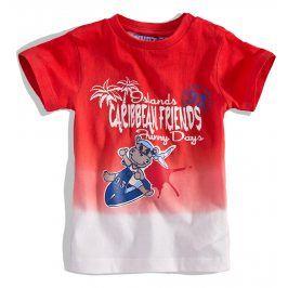 KNOT SO BAD Kojenecké tričko KnotSoBad CARRIBEAN červené Velikost: 62