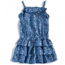 KNOT SO BAD Dívčí letní šaty KnotSoBad BLOSSOM modré s potiskem Velikost: 92