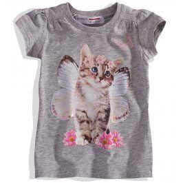 Dívčí tričko s kočičkou Minoti Velikost: 74-80