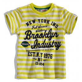 Chlapecké tričko Minoti FLAG žluté Velikost: 74-80