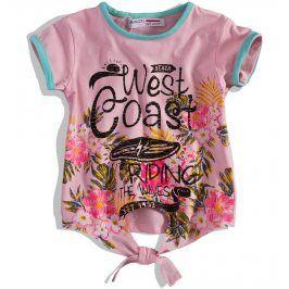 Dívčí tričko MINOTI SPLASH růžové Velikost: 104-110