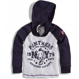 Chlapecké triko s kapucí MINOTI TIGER modré Velikost: 86-92