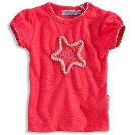 Dívčí tričko s krátkými rukávy Dirkje PINKY STAR růžové neon Velikost: 56