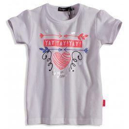 Dívčí tričko s krátkým rukávem DIRKJE YAY bílé Velikost: 62