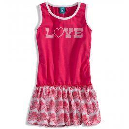Dívčí letní šaty Dirkje LOVE růžové Velikost: 110
