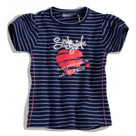 Dívčí tričko DIRKJE SRDCE modré s proužky Velikost: 92