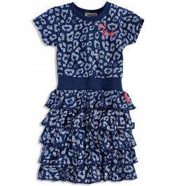 Dívčí bavlněné šaty s volánky DIRKJE LIPSY modré Velikost: 92