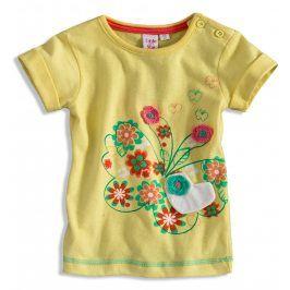 GIRLSTAR Kojenecké dívčí tričko s krátkým rukávem žluté Velikost: 74