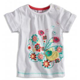 GIRLSTAR Kojenecké dívčí tričko s krátkým rukávem bílé Velikost: 74