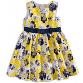 Dívčí šaty bez rukávů MINOTI BLOOM žluté Velikost: 92