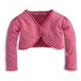 BABALUNO Dívčí pletené bolerko Minoti BLOSSOM růžové Velikost: 86-92