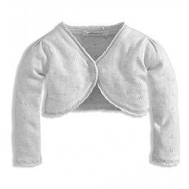 BABALUNO Dívčí pletené bolerko Minoti BLOSSOM bílé Velikost: 86-92