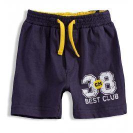 KNOT SO BAD Bavlněné šortky pro kluky BEST CLUB tmavě modré Velikost: 62