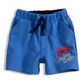 Kojenecké šortky Knot So Bad BULDOZER modré Velikost: 68