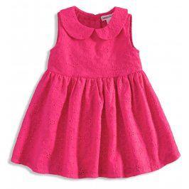 BABALUNO Kojenecké šaty pro holčičky FLOWER světle růžová Velikost: 56-62