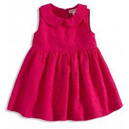 BABALUNO Kojenecké šaty pro holčičky tmavě růžová Velikost: 56-62
