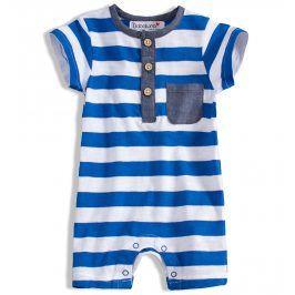 Letní overal pro miminka Babaluno SAFARI modrý Velikost: 56-62