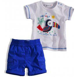 Dětská letní souprava Babaluno SAFARI modrá Velikost: 56-62