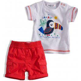 Dětská letní souprava Babaluno SAFARI červená Velikost: 56-62