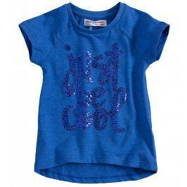 Tričko s krátkým rukávem pro holky MINOTI VIBE modré Velikost: 92