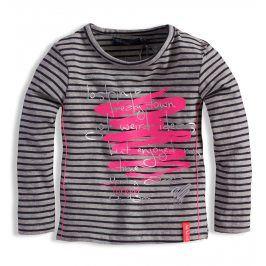 Kojenecké dívčí triko s potiskem DIRKJE ŠEDÉ Velikost: 62