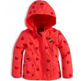 Dívčí podzimní bunda DIRKJE SRDÍČKA oranžová Velikost: 92
